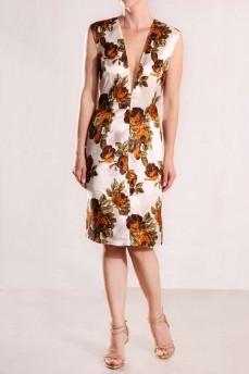Платье футляр розы