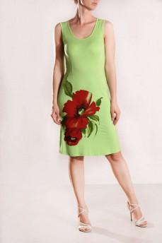 Платье без рукава с принтом мак