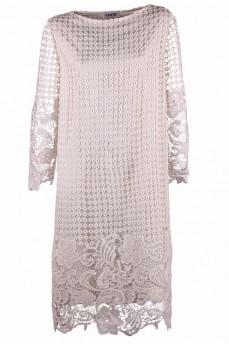 Кремовое платье из кружева