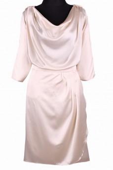 Шелковый костюм кремовый